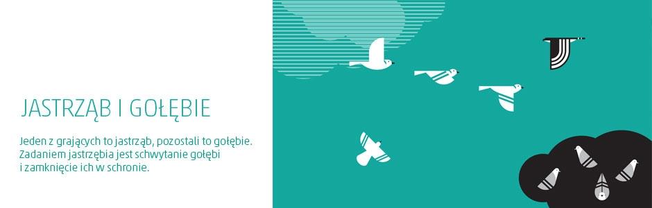 jastrząb i gołębie